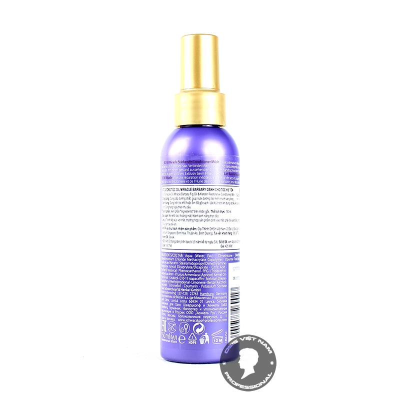 Sẽ tuyệt vời hơn nếu bạn sử dùng kèm với sản phẩm dầu dưỡng tóc BC Bonacure Barbary Fig Oil Treatment. Chắc chắn sự kết hợp này sẽ mang lại hiệu quả cao cho quá trình điều trị và phục hồi tóc của bạn hơn cả mong đợi.  Lắc nhẹ sản phẩm trước khi dùng, Xịt đều từ phần thân tóc tới ngọn tóc và dùng lược chải để các chất dưỡng đi đều trên tóc Không cần xả lại với nước mà để nó tự thẩm thấu vào tóc bạn Sản phẩm có thể sử dụng mỗi ngày trong chu trình dưỡng ẩm của bạn. Nếu bất cứ lúc nào bạn ra ngoài trở về, cảm thấy mái tóc khô xơ, hãy xịt nó lên để làm dịu tóc tức thì.