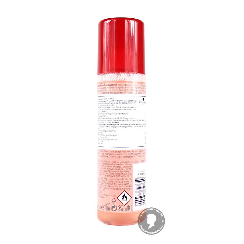 •Bạn nhớ lắc nhẹ sản phẩm trước khi xịt lên tóc nhé • Thời điểm sử dụng tối ưu nhất là lúc tóc còn ẩm sau khi đã gội xả. • Xịt đều sản phẩm từ thân tóc tới ngọn, mát xa nhẹ nhàng và để sản phẩm xâm nhập vào bên trong tóc, không xả lại với nước. • Bạn có thể sử dụng BC Repair Rescue Spray Conditioner 2-3 lần/tuần